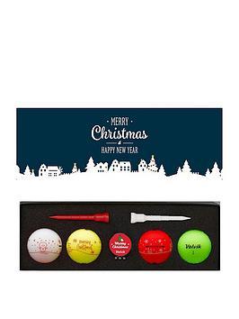 volvik-4-pack-volvik-christmas-golf-balls-with-marker-tees