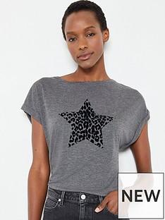 mint-velvet-animal-flocked-star-t-shirt-dark-grey