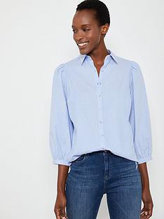 mint-velvet-chambray-puff-sleeve-shirt-blue