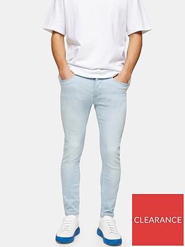 topman-bleach-wash-spray-on-jeans-blue
