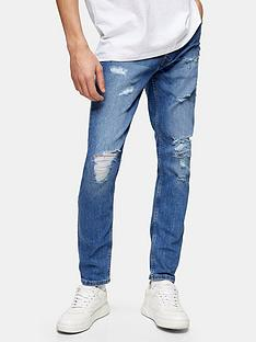 topman-rip-and-repair-skinny-jeans-blue