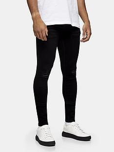 topman-ripped-skinny-fit-jeans-black