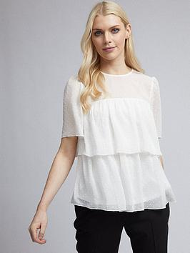 dorothy-perkins-textured-tiered-top-ivory