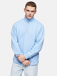 topman-14-zip-sweatshirt-blue