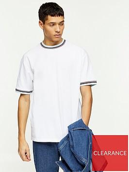 topman-tipped-pique-t-shirt-white