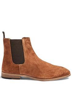 topman-fenn-fauxnbspsuedenbspchelsea-boots-tan
