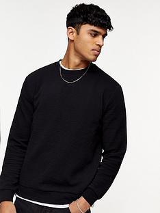 topman-ottoman-crew-sweatshirt-black