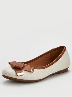 wallis-folder-bow-front-ballerina-shoes-natural