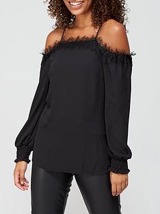v-by-very-lace-trim-cold-shoulder-top-black