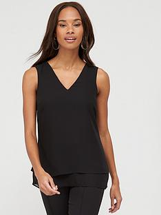 v-by-very-essential-double-layer-vest-black