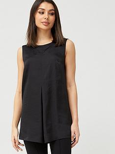 v-by-very-longline-sleeveless-shell-top-black