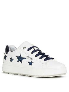 geox-girls-rebecca-lace-up-star-trainers-whitenavy