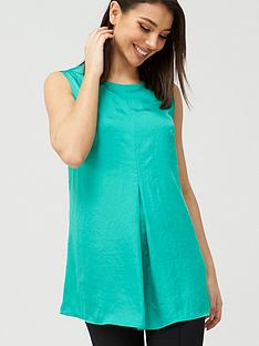v-by-very-longline-sleeveless-shell-top-green