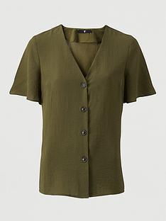 v-by-very-short-sleeve-v-neck-shirt-green
