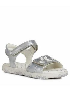 geox-girls-haiti-sandals-silver