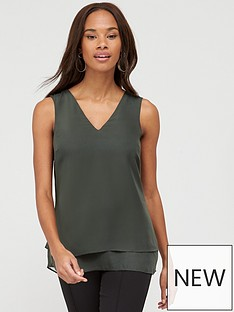 v-by-very-essential-double-layer-vest-olive