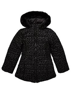 v-by-very-girls-flock-leopard-print-shower-proofnbsppadded-coat-black