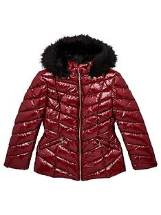 v-by-very-girls-shiny-faux-fur-trim-shower-proofnbsppadded-jacket-burgundy