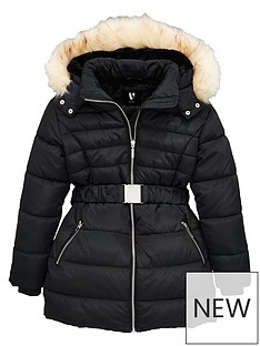 v-by-very-girls-faux-fur-hooded-belted-coat--nbspblack