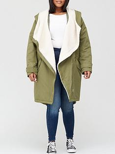 v-by-very-curve-waterfall-faux-fur-lined-parka-khaki