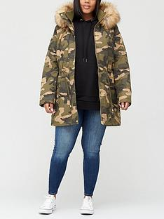 v-by-very-curve-faux-fur-trim-coat-camo