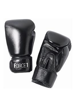 Force 1 Boxing Gloves - Black|