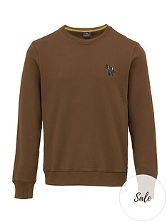 ps-paul-smith-embroidered-zebra-logo-sweatshirt-brown