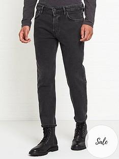 allsaints-dean-cropped-slim-jeans-black