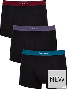 ps-paul-smith-mens-3-pack-coloured-waistbandnbspboxer-shortsnbsp-nbspblack