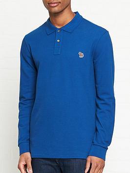 ps-paul-smith-zebra-logo-long-sleeve-pique-polo-shirt--nbspblue