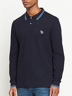 ps-paul-smith-zebra-logo-tipped-long-sleeve-polo-shirt--nbspnavy