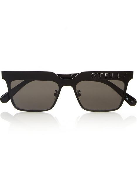 stella-mccartney-flat-top-rectangle-sunglasses-black