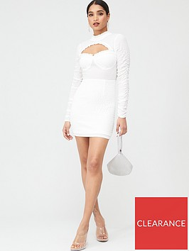in-the-style-in-the-style-cut-out-frill-detail-mini-dress-white