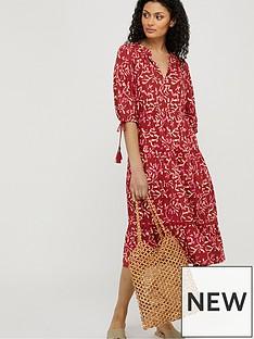 monsoon-blake-woodblock-print-ecovero-midi-dress-red