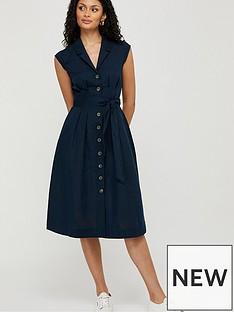 monsoon-joanna-organic-cotton-linen-dress-navy