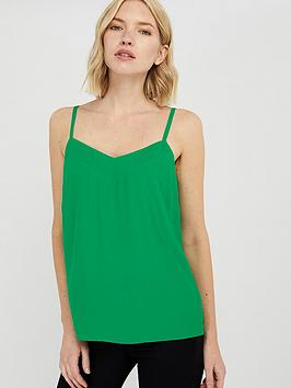 monsoon-mae-pleat-cami-top-green