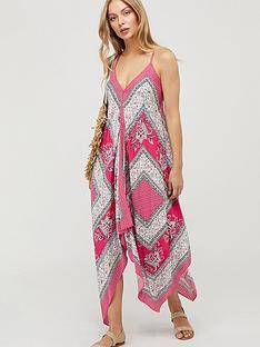monsoon-christa-ecovero-scarf-print-dress-pink