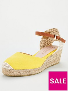 office-miller-espadrille-wedge-yellow