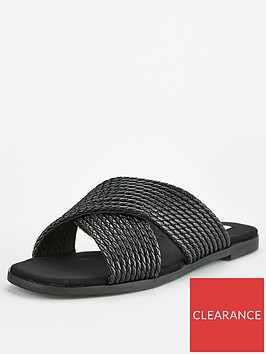 office-steffanni-cross-over-flat-sandals-black