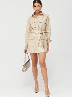 in-the-style-in-the-style-x-stephsa-utility-faux-leather-dress-camel
