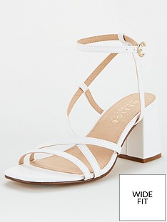 office-margate-wide-fit-heeled-sandal-white