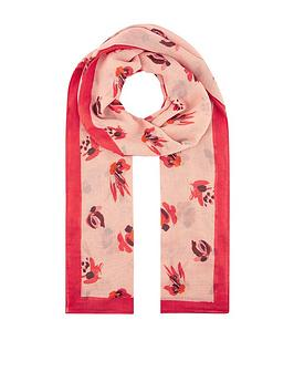 monsoon-betty-brushstroke-recycled-polyester-scarf-pink
