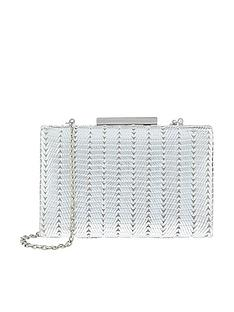 monsoon-maya-metallic-hard-clutch-silver