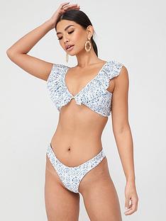in-the-style-in-the-style-x-billie-faiers-blue-tile-print-high-waist-co-ord-bikini-bottom