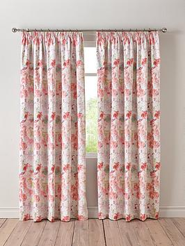Product photograph showing Wendy Tait Blossom Blackout 3-inch Pleated Curtains