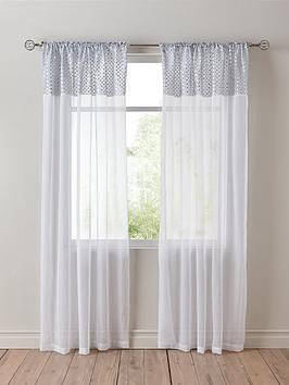 Product photograph showing Selina Macrame Top Voile Pair 137cm
