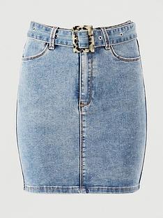 missguided-missguided-feature-buckle-belt-stretch-denim-skirt-blue