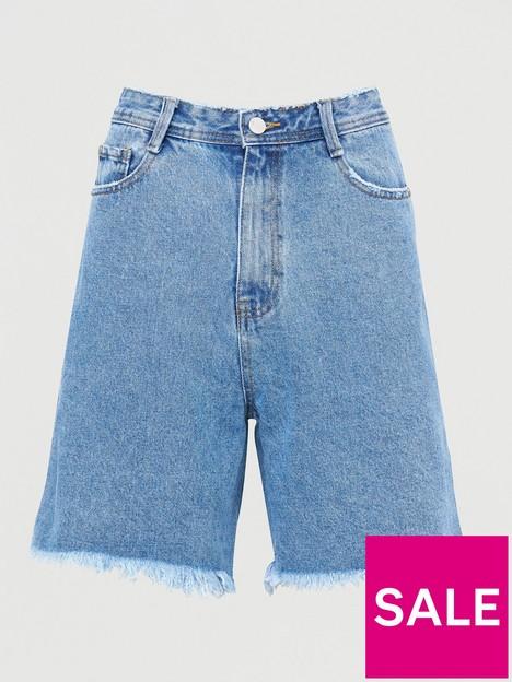 missguided-missguidednbsplongline-denim-shorts-light-wash