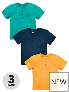 v-by-very-boys-3-pack-short-sleevenbspbutton-t-shirts-multi