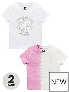 v-by-very-2-pack-girlsnbspmermaid-tie-dye-t-shirts-multi